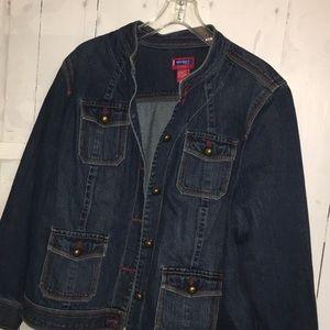 Westport Women Blue Jean Jacket Size 18/20W
